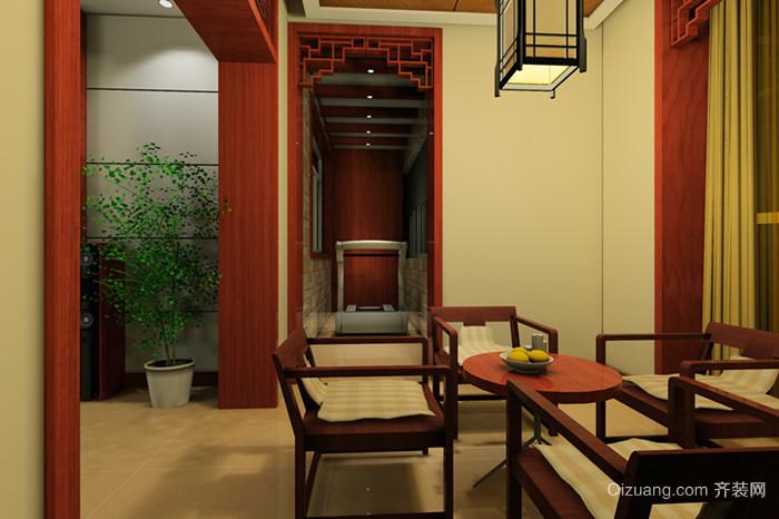 绿洲花园中式风格装修效果图实景图