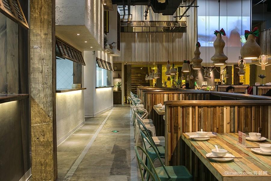 300平米餐厅空间设计现代简约装修效果图实景图