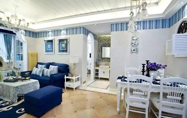 酒城花园地中海风格装修效果图实景图