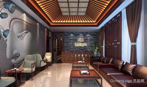 瑜伽会馆中式风格装修效果图实景图