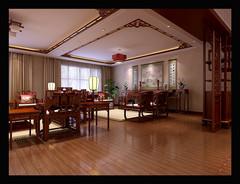 中式风格-怡景湾叠加别墅
