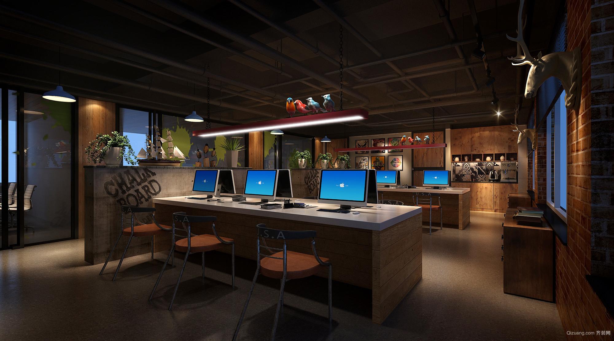 樾阁路怀总办公室现代简约装修效果图实景图