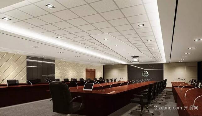 办公楼装修现代简约装修效果图实景图