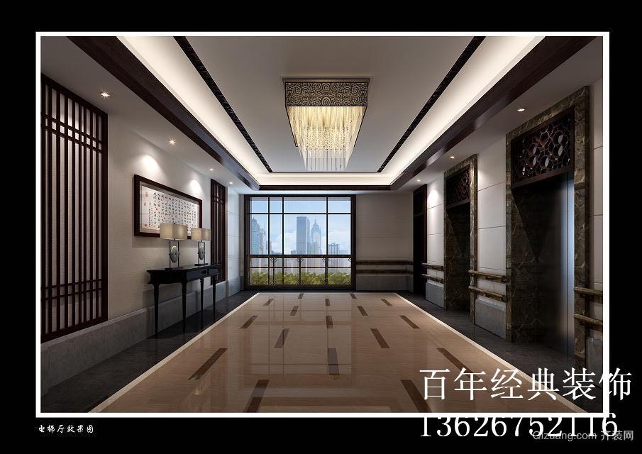 电梯间中式风格装修效果图实景图