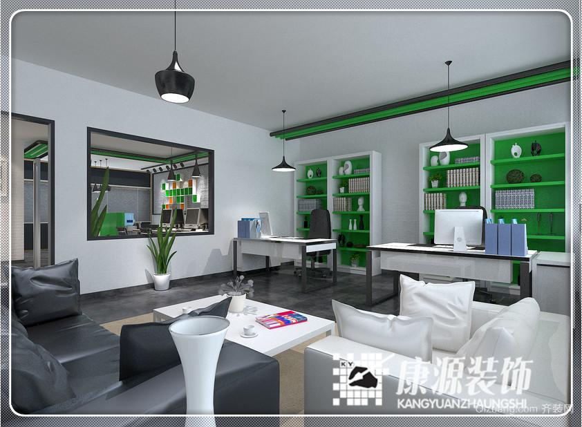 现代风格办公室现代简约装修效果图实景图