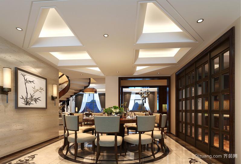 碧桂园山水桃园中式风格装修效果图实景图