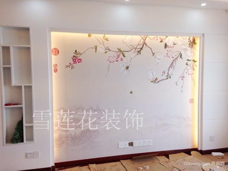 鲁昱绿城中式风格装修效果图实景图