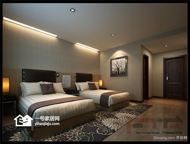 崂山宾馆中式风格装修效果图实景图