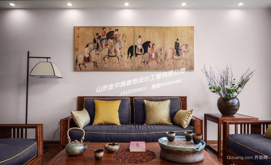 中润华侨城中式风格装修效果图实景图