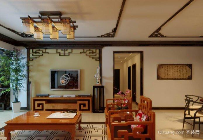 昌平花园中式风格装修效果图实景图