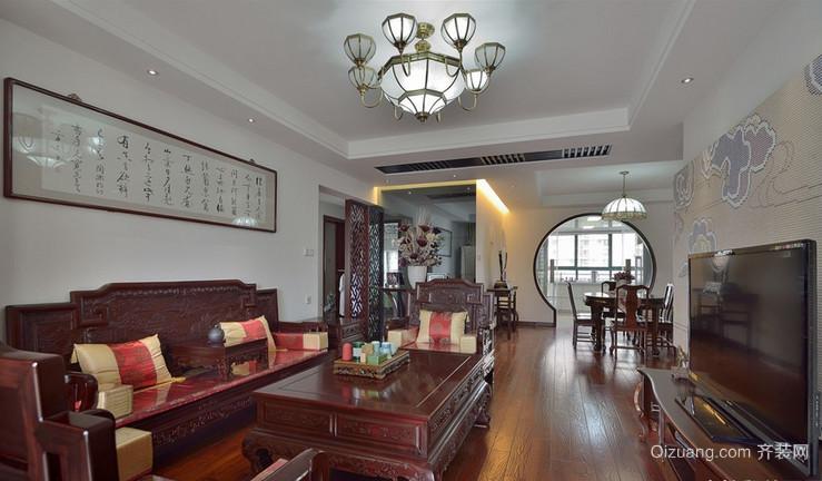源江豪庭中式风格装修效果图实景图