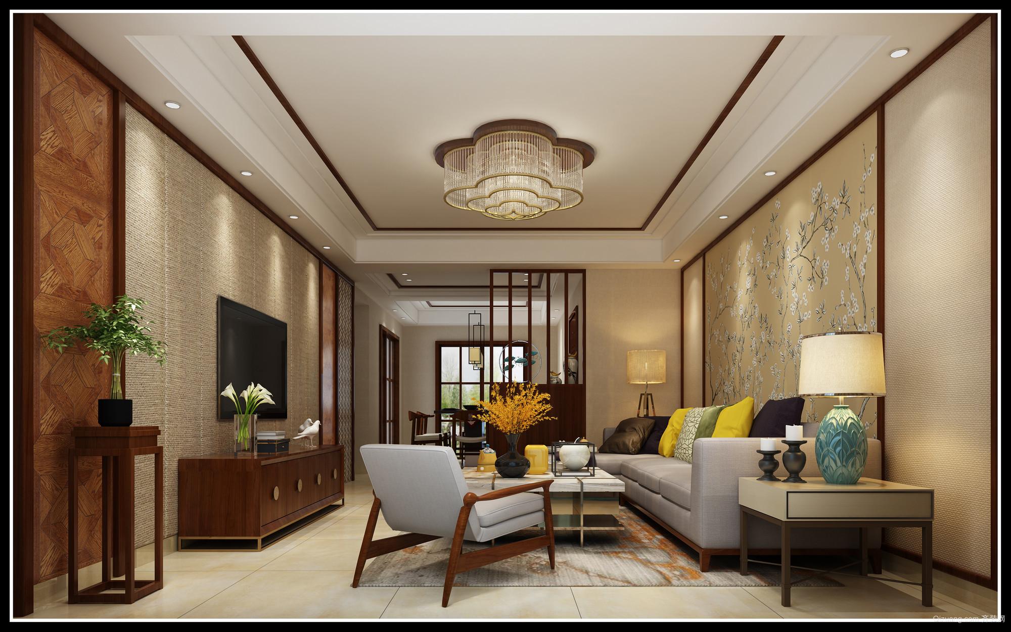 圣大珑庭中式风格装修效果图实景图