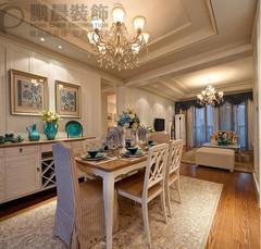 美式风格-芜湖东方龙城木兰苑122平地中海风格装修效果图案例
