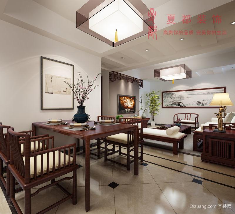 怡和家园中式风格装修效果图实景图