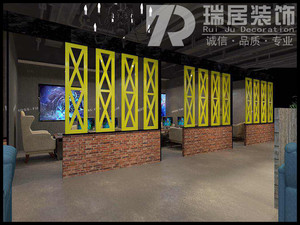 芜湖沈巷金水滴网吧工业风装修效果图