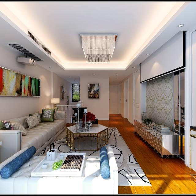 金鼎豪庭120㎡復式戶型現代簡約裝修案例