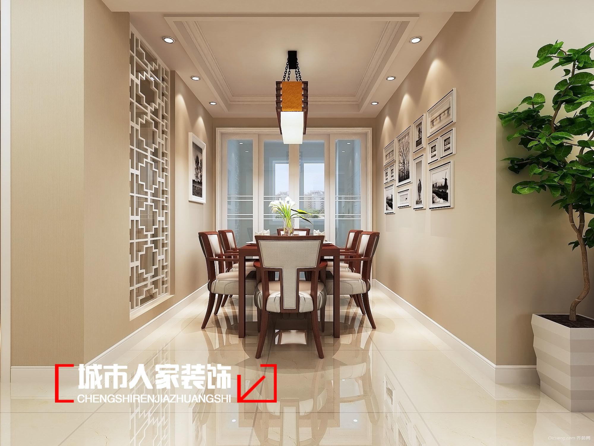 中央华中式风格装修效果图实景图