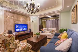 芜湖绿地镜湖世纪城95平欧式风格装修效果图案例