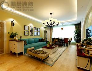芜湖白金湾95平田园风格装修效果图案例