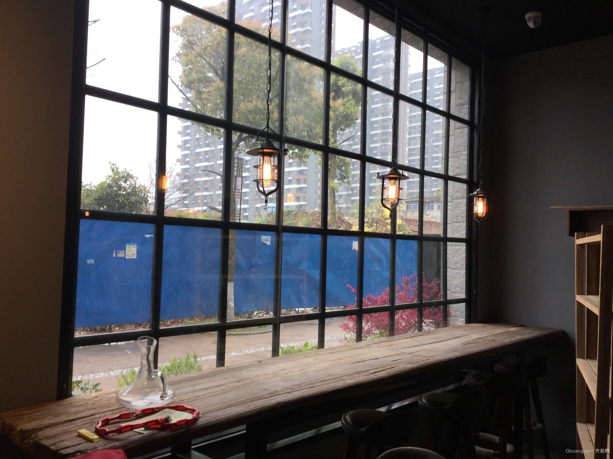 长虹金域猫咪咖啡店混搭风格装修效果图实景图