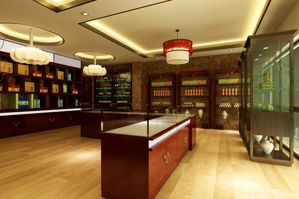 鲁能领秀城商铺古典风格装修效果图实景图