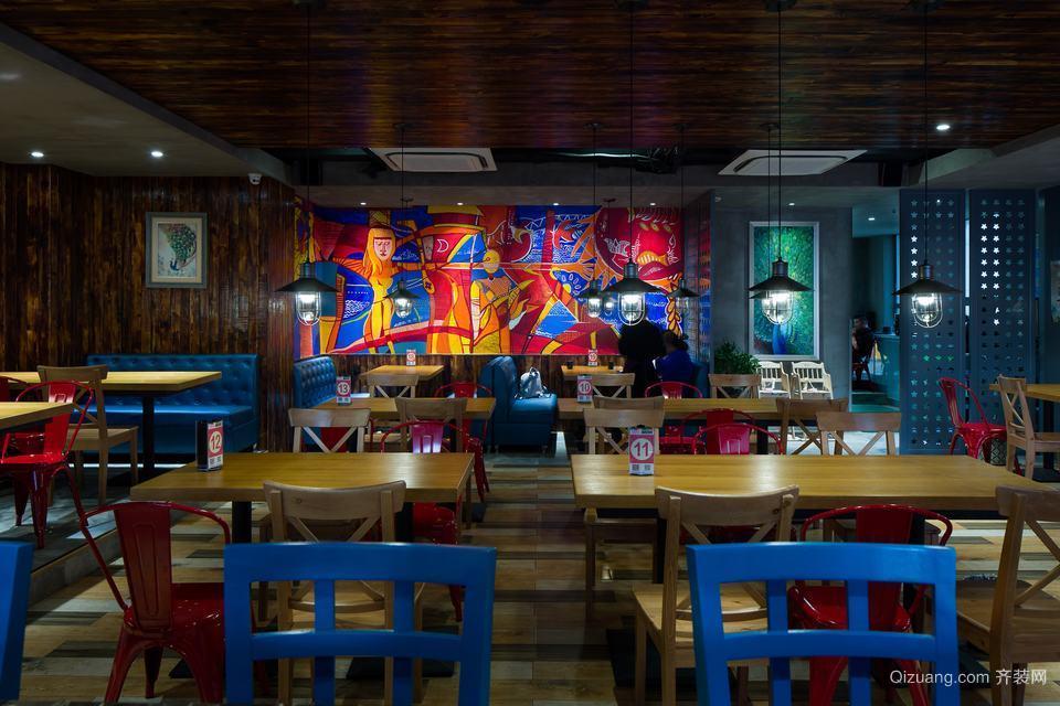 冷饮店混搭风格装修效果图实景图