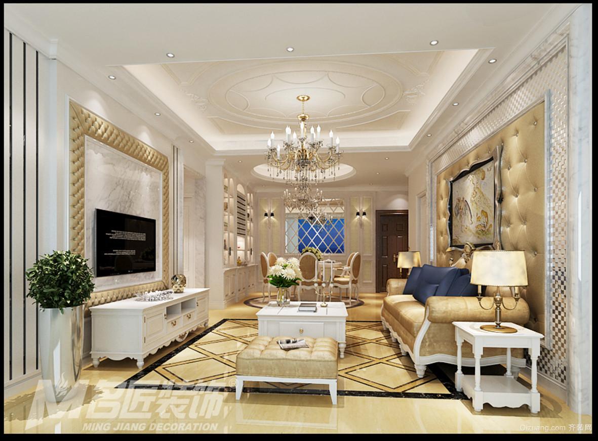 星辰时代豪庭7座02房欧式风格装修效果图实景图