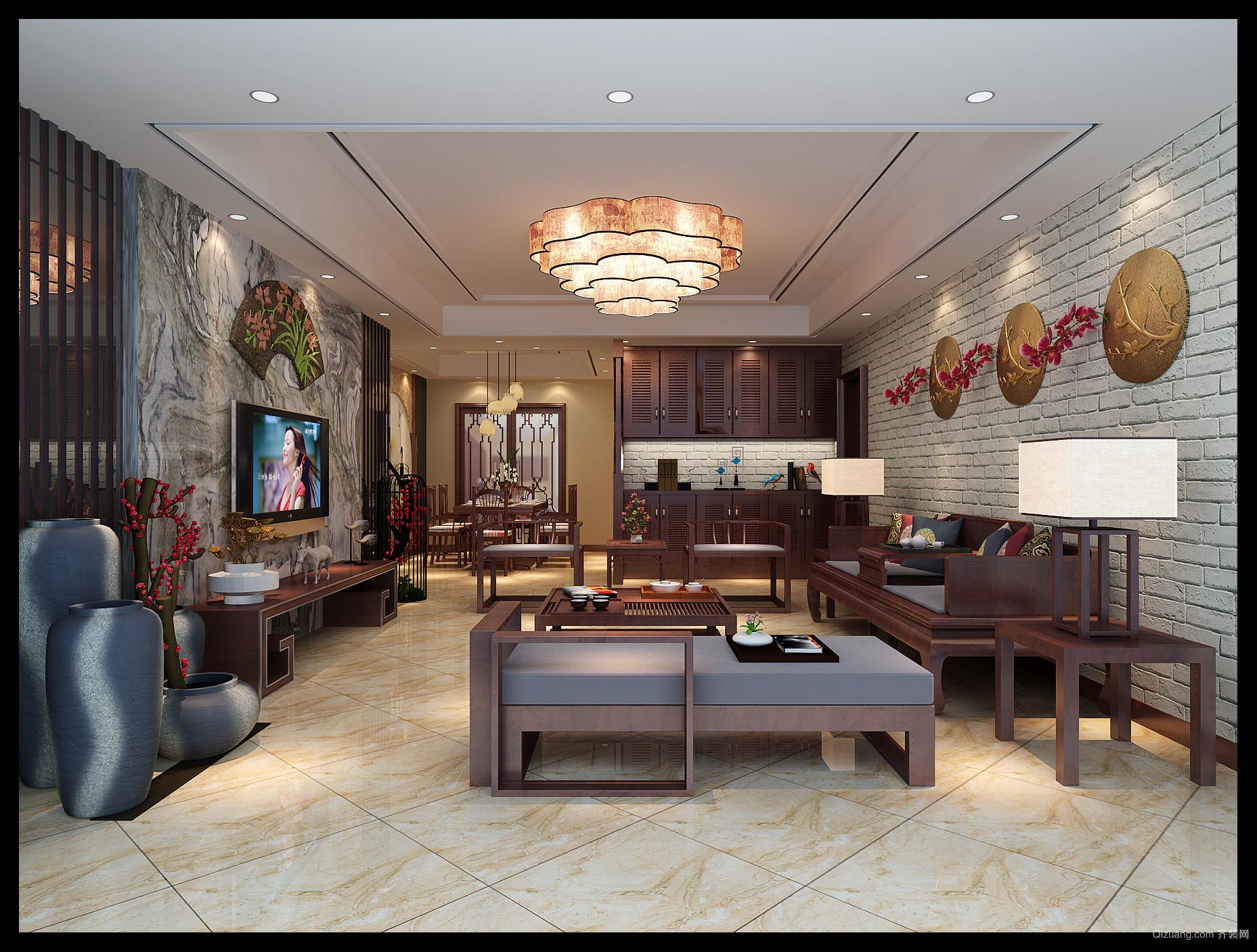 星汇湾中式风格装修效果图实景图