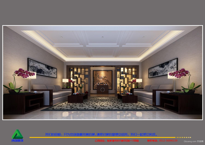 丽景华都中式风格装修效果图实景图
