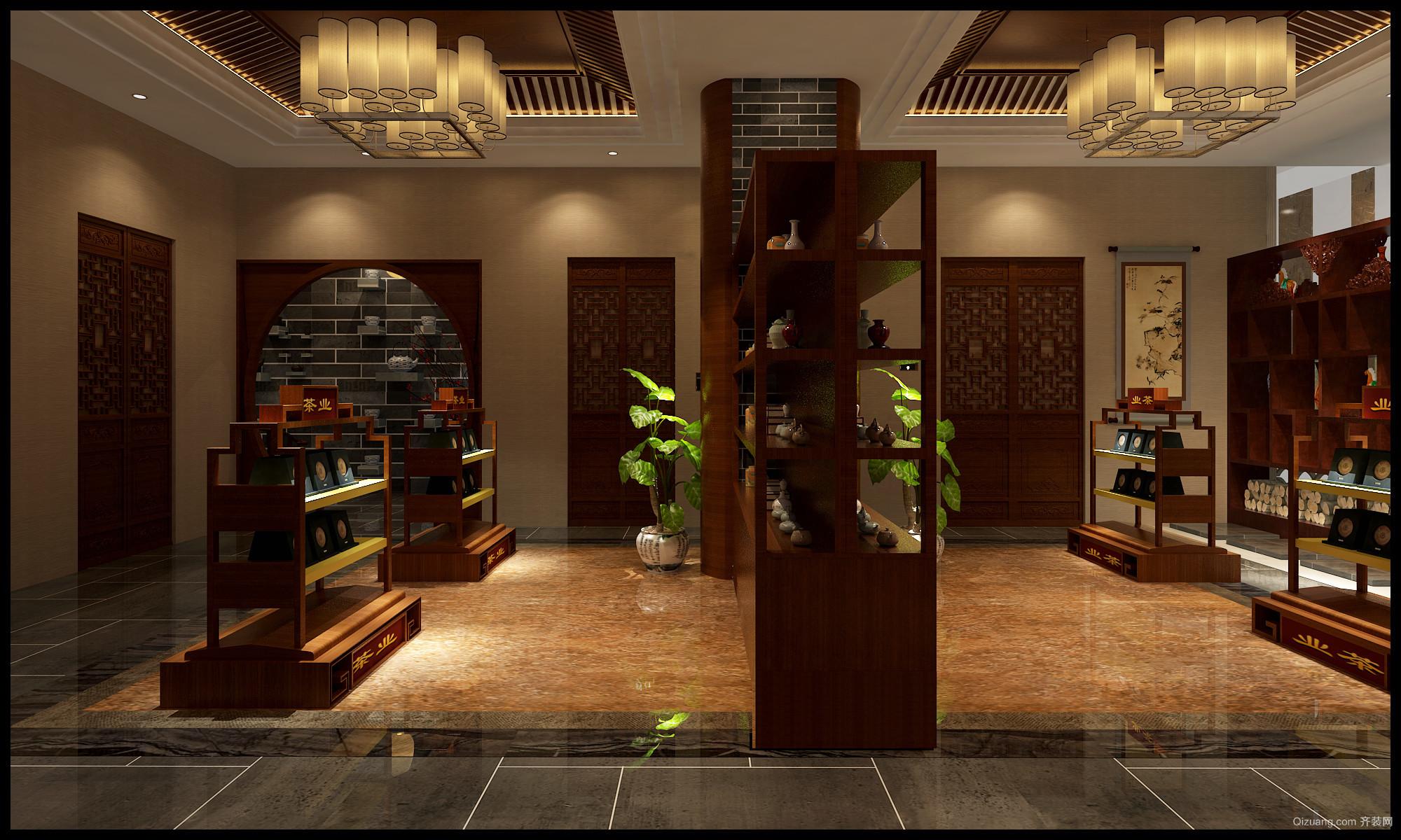 金港商业城中式风格装修效果图实景图