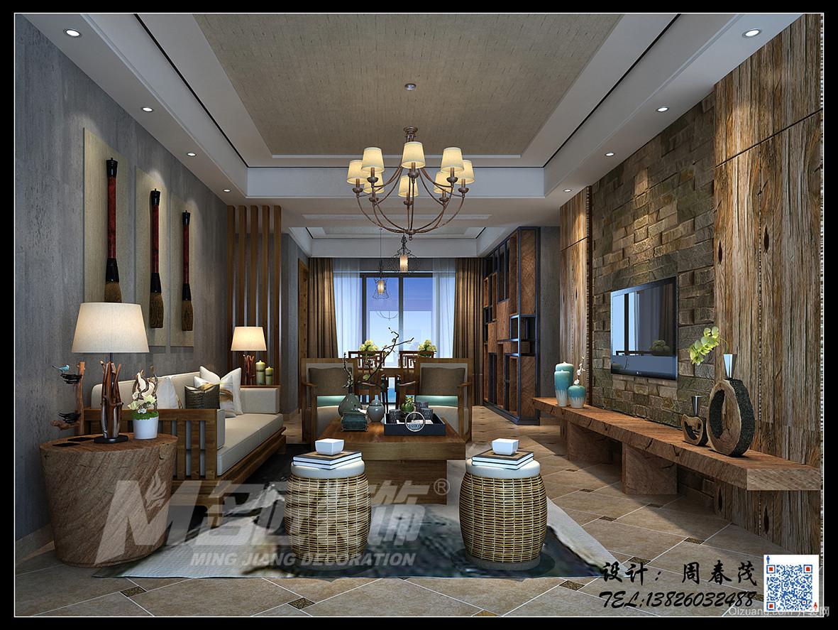 天誉8栋2701刘先生雅居现代简约装修效果图实景图