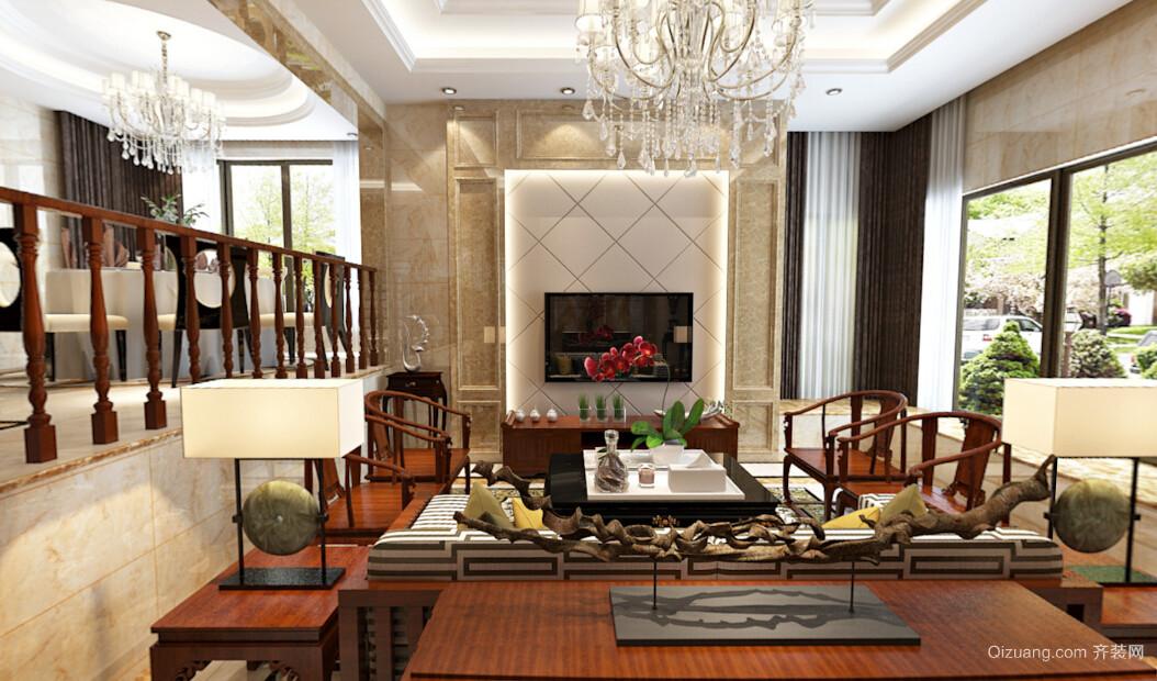 颐景东方中式风格装修效果图实景图