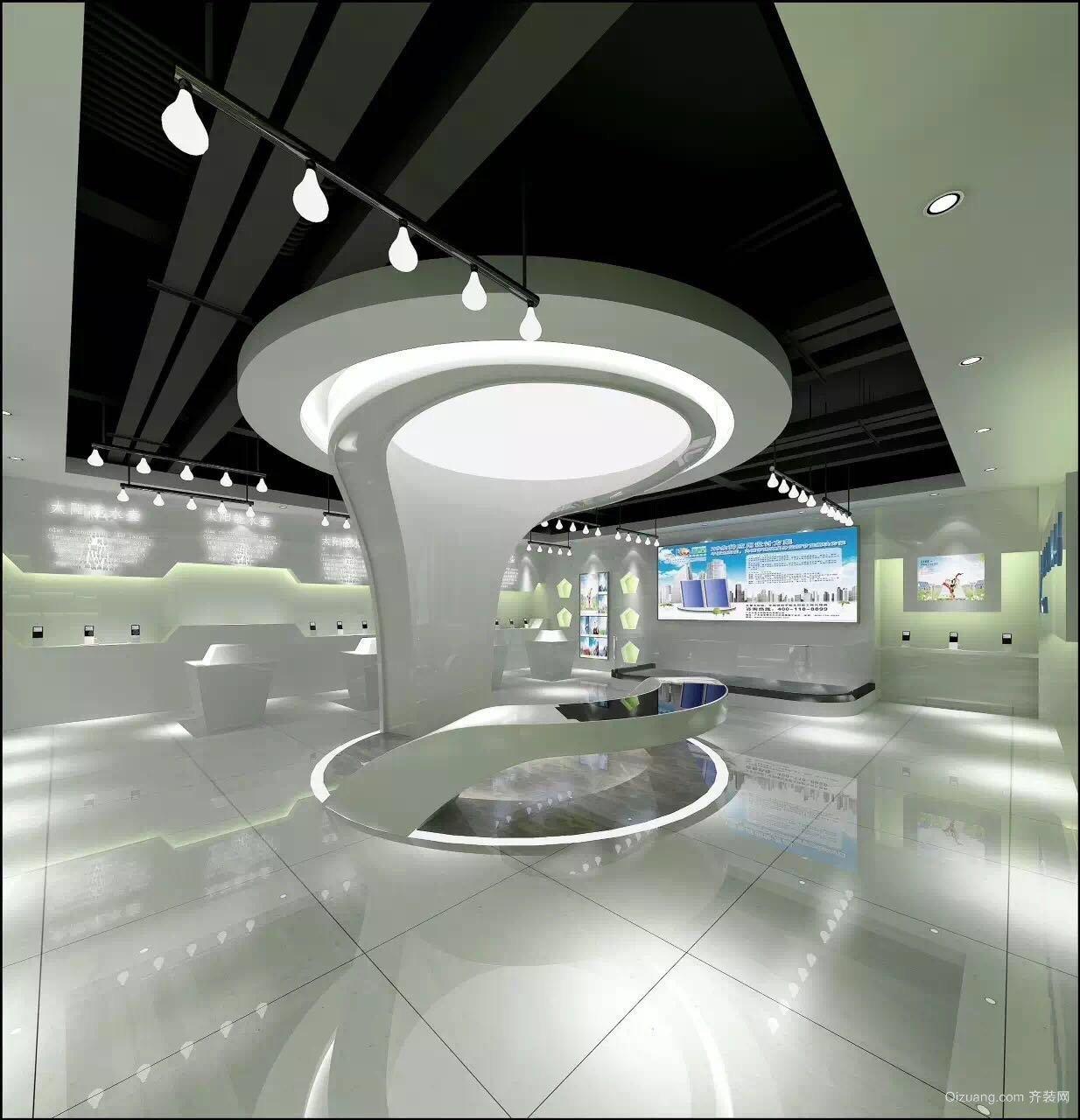 展示厅现代简约装修效果图实景图