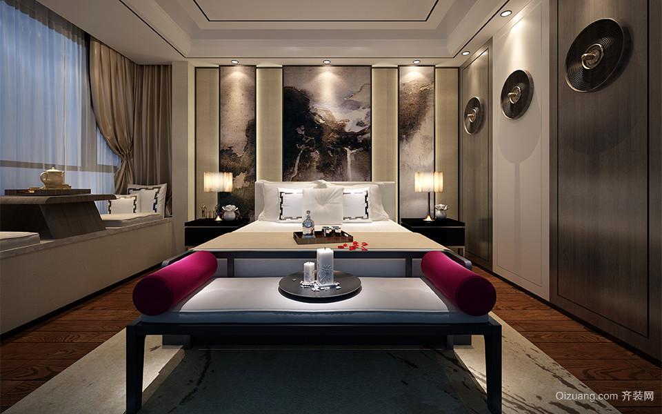 世贸香槟湖中式风格装修效果图实景图