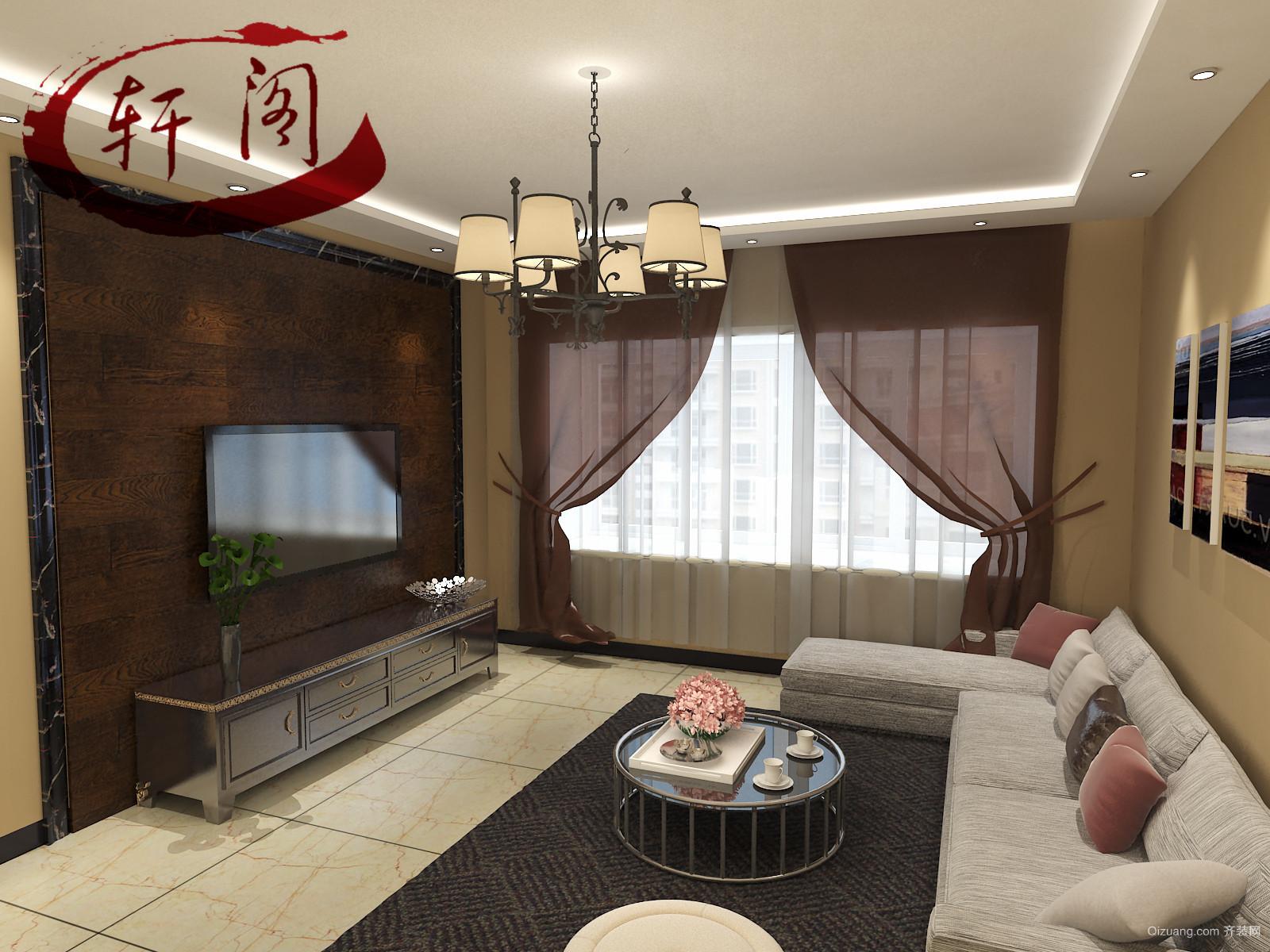 荣盛·江南锦苑现代简约装修效果图实景图