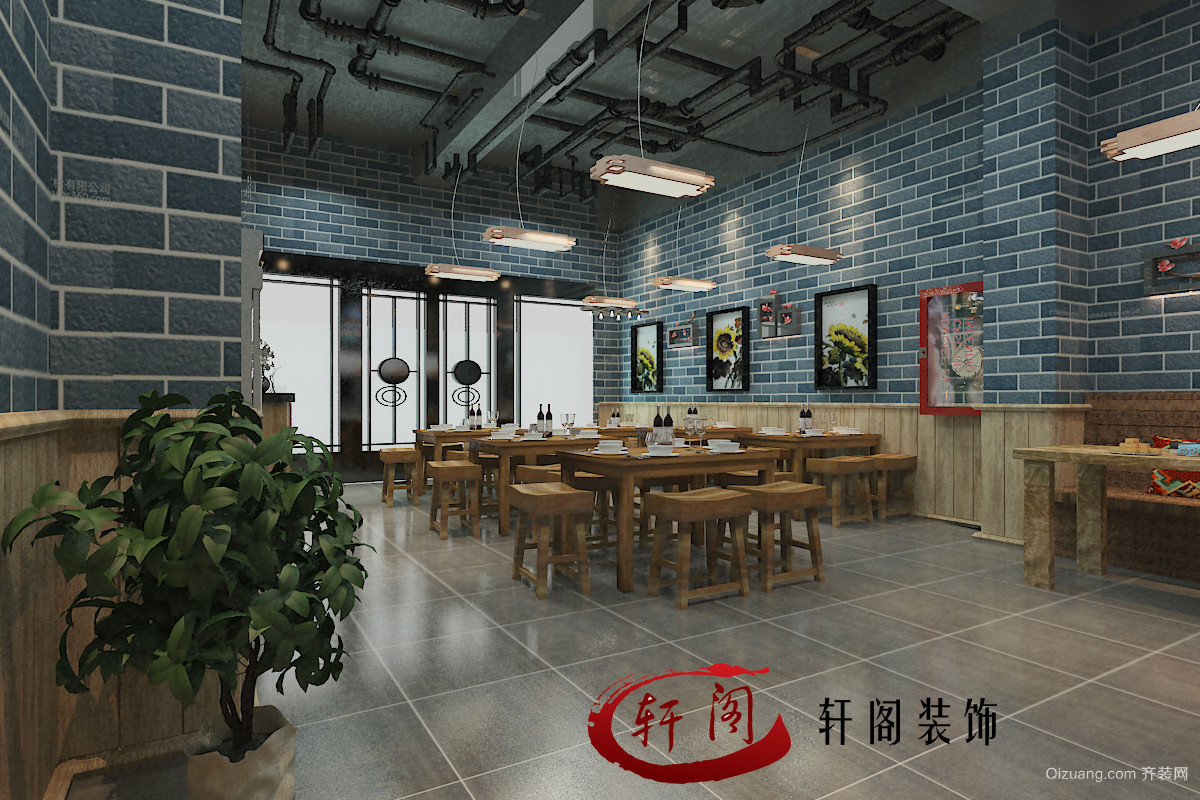 美的城餐厅中式风格装修效果图实景图