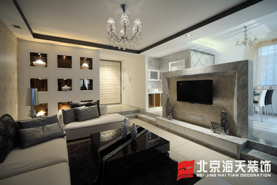 鄂州124m²现代简约3居室装修设计案例