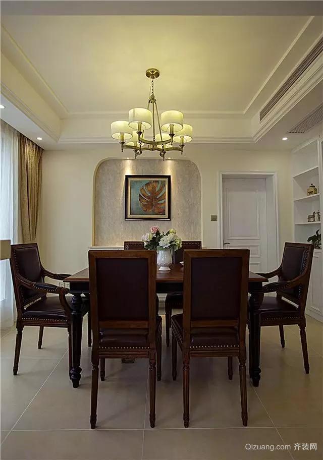 华泰国际豪园美式风格装修效果图实景图