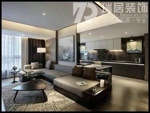 芜湖名流王座140平后现代风格装修效果图