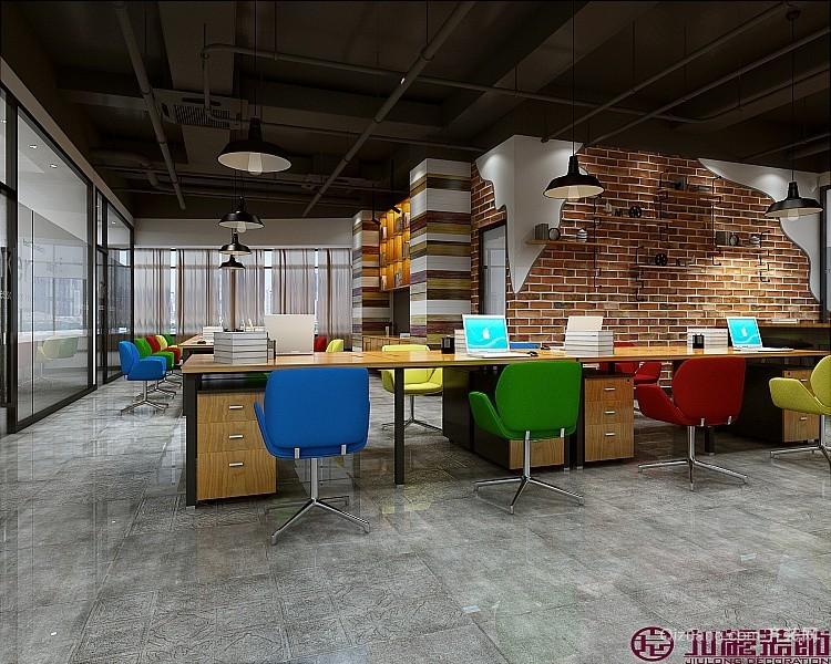 清溪办公室混搭风格装修效果图实景图
