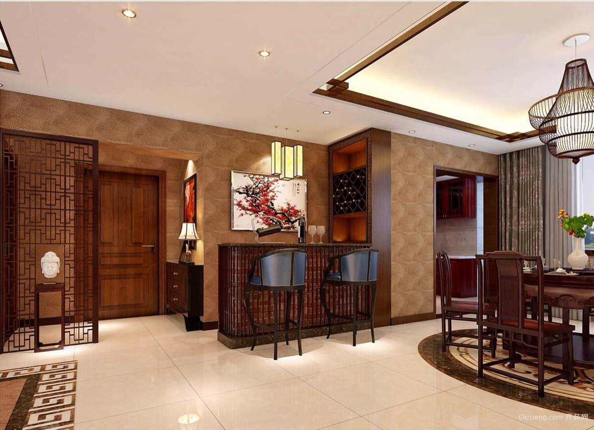 联排别墅中式风格装修效果图实景图