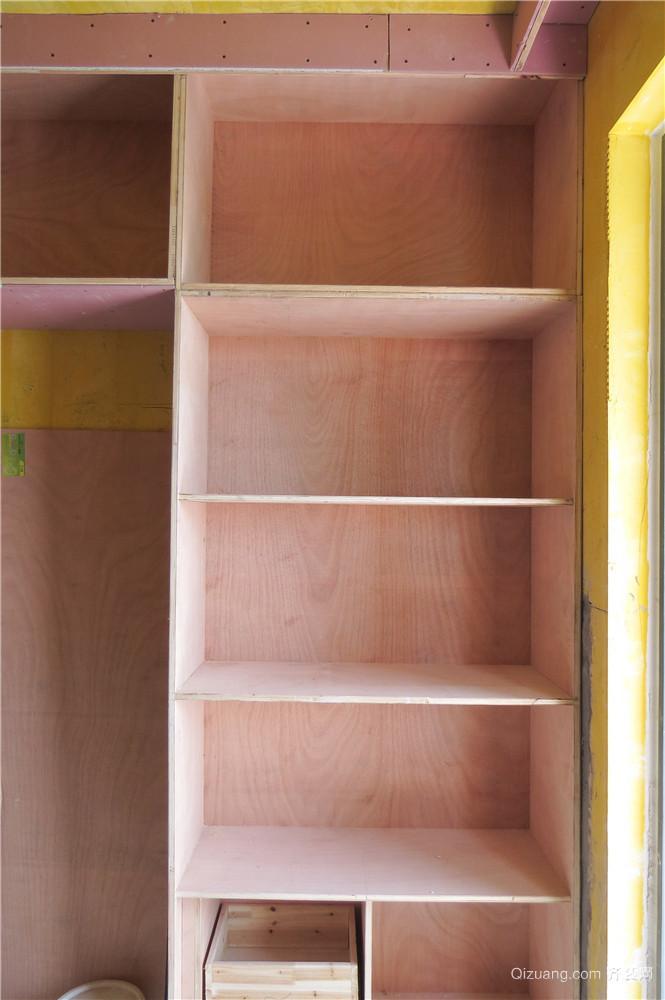 紫韵公寓木工阶段现代简约装修效果图实景图