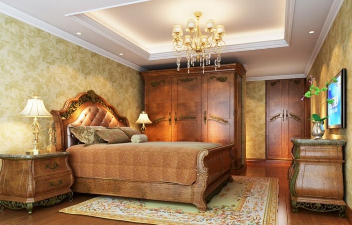 海虞 中南世纪城古典风格装修效果图实景图