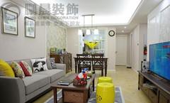 芜湖长江之歌95平美式风格装修效果图案例