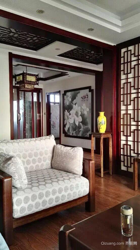 湖天南苑中式风格装修效果图实景图