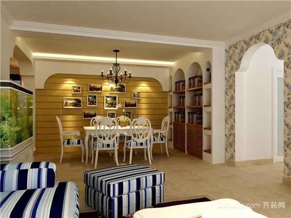 理想城地中海风格装修效果图实景图