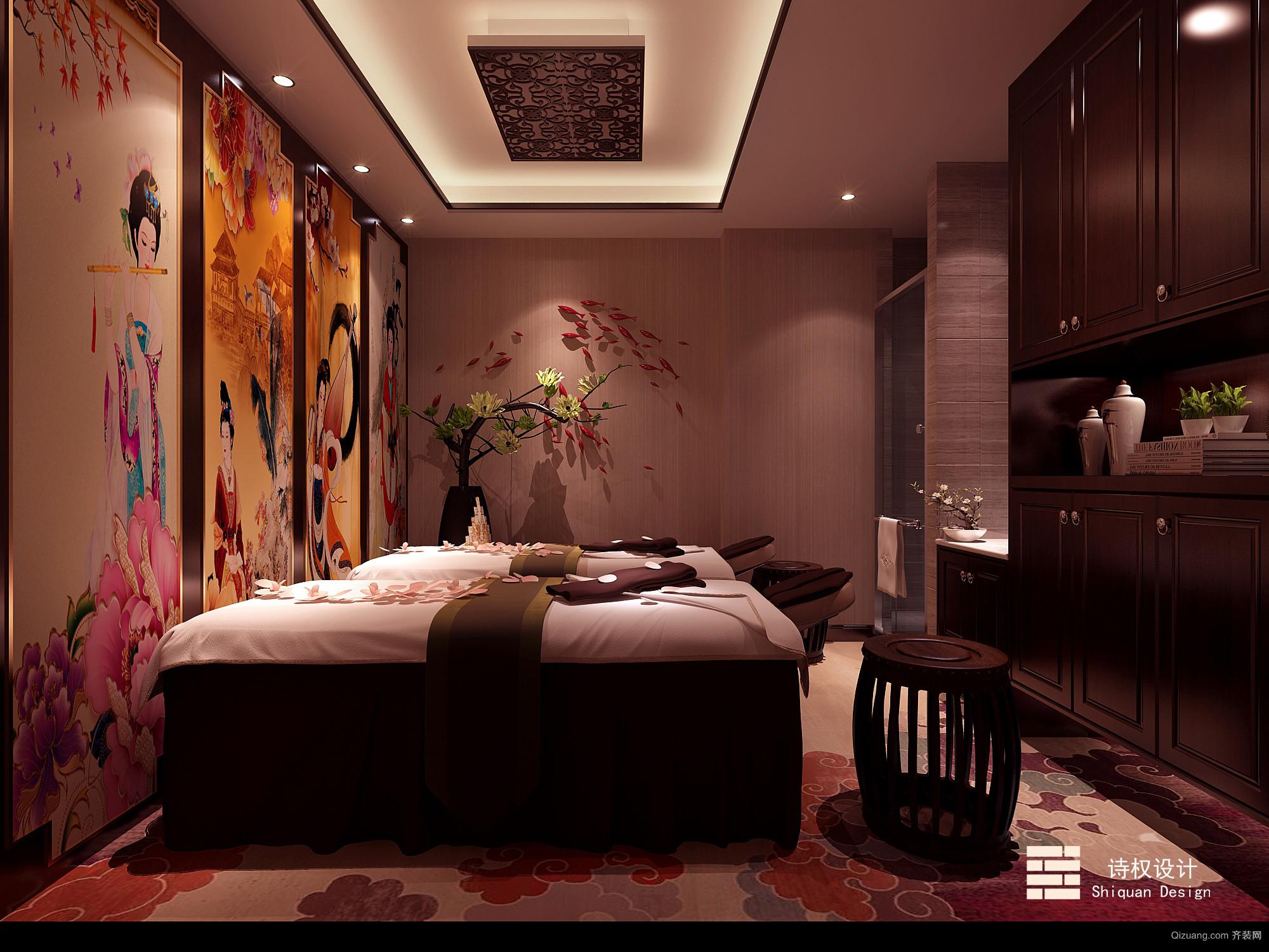 萧林路美容院现代简约装修效果图实景图