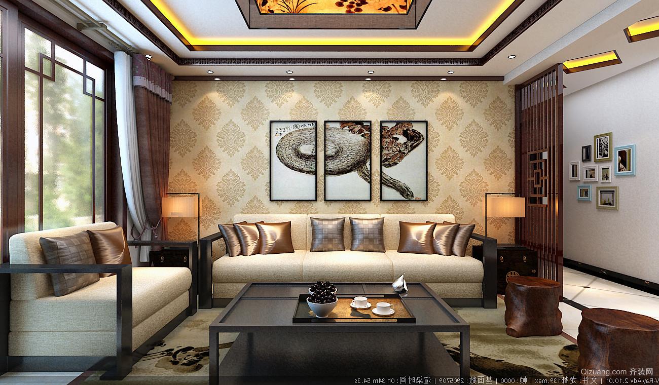 龙都家园中式风格装修效果图实景图