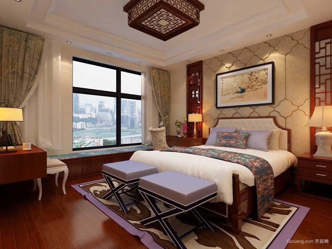 灏景玥城中式风格装修效果图实景图