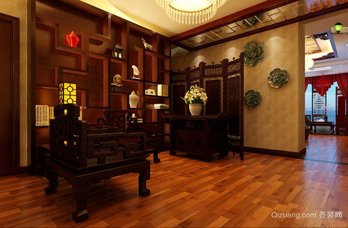 家装中式风格装修效果图实景图